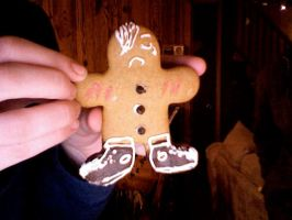 Emo Gingerbread man by TheSillyPancake