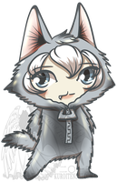 Chibi in a Wolf Suit by kuroitenshi13