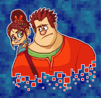 Wreck-it Ralph PixelArt by StevenRayBrown