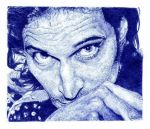 Vincent Gallo. Blue biro by artisticartery