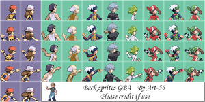 GBA Back Sprites by art-56