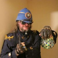 Steampunk Blue Lantern Pith Helmet 8 by Windthin