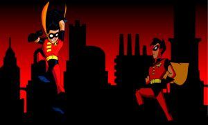 Robin Tnba Gotham City by bat123spider