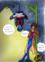 Nightcrawler, Gambit, and Nub by melaniecomics