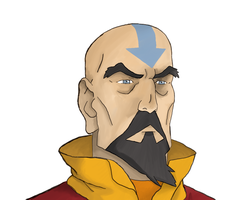 The Legend Of Korra: Tenzin portrait by DeJakob