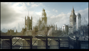 London 2063 by Grivetart