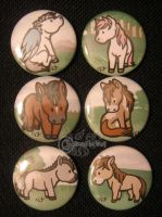 Horsey Button Set by RonTheWolf