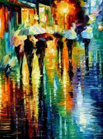 Rainy etude by Leonid Afremov by Leonidafremov