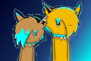 Lighting Claw and Her Older Brother Thunder Bolt by InsaneVaporeon