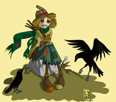the scarecrow is sad by DeerDandy