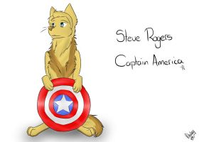 Wolf Steve Rogers / Captain America by PuppyRhodes