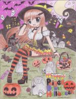 Happy PaigeeDraw Halloween by xXANJUXx13