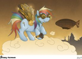 Steampunk Rainbow Dash by Caravaggia