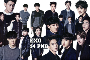 EXO PNG Pack {Season Greetings 2015 Part. 4} by kamjong-kai