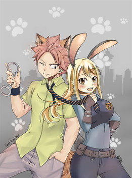 Crossover Collab FT x Zootopia by Karokitten-chan