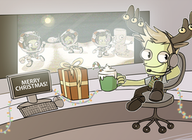 Merry Christmas from Mission Control! by y0rshee