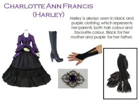 Charlotte Ann Francis (Harley) Outfit Collage by GrellSutcliffFanatic