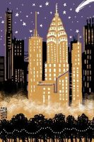 iPhone Painting: NYC Skyline by DivaLea