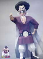 Mr.Hercule Satan Papercraft - DBZ by suraj281191