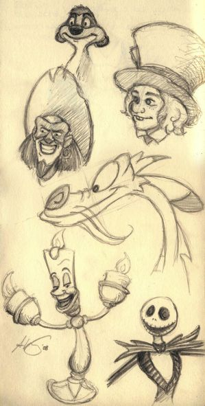 disney characters drawings. How To Draw Disney Characters