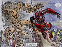 Arcee's _ Downtown Brawl by TheCiemgeCorner
