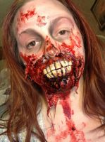 exposed mouth zombie by ScarahScrewdriveR