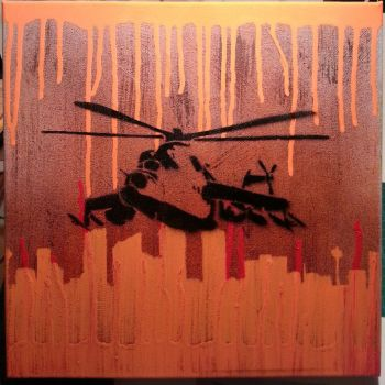 Helicopter Canvas by Fixxel280