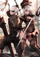 2B and 9S by Shei99