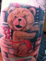 Ted tattoo by Buck by BuckinTattoo