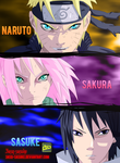 team 7 colored by 3asq sasuke by Dark-strom