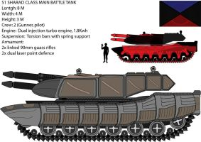 Sharad S1 Battle Tank by madcomm
