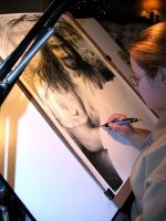'He Is' Drafting Table Shot by Aprilart