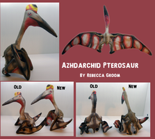 Azhdarchid Pterosaur Plush- many views by PixelMecha