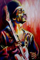 "Jimi Hendrix ""SOLD"" by soljwf98"