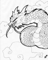 Asian Dragon: Lineart by Riku-X-Gaara