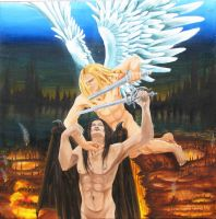 Michael and Lucifer farewell by kaylynh1