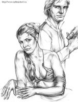 Han and Leia by Callista1981