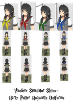Yandere Simulator- Hogwarts Uniform Skins by ImaginaryAlchemist