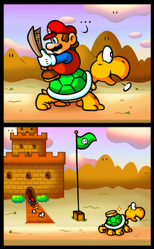 SMB Short Comic - Koopa Express by JamesmanTheRegenold