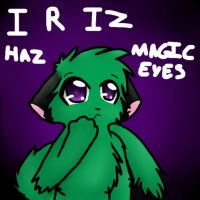 Green R Iz Haz Magical Eyes by AkxCat