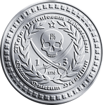 Silver Pirate Freedom Coin by JohnGWolf