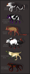 .:Hellhound Adoptables Sheet:. Open by Caneage