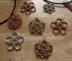 Chainmaille Flowers by cyborgbutterfly