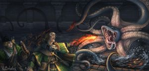 Attack of the Krakenmolch by GaiasAngel