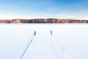 Winter lake by JuhaniViitanen