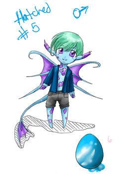 Hatched- Set 1, egg5 by RukaisaADOPTS