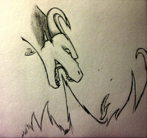 Doodle - dragon breathing fire by DeviousAngel5216
