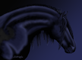 Black Friesian by SheWolfGeo