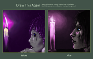 Drawn Again- Candles by Kuneria