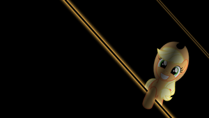 Applejack Peeking Wallpaper by alexram1313